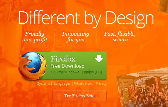 Mozilla Firefox Call To Action