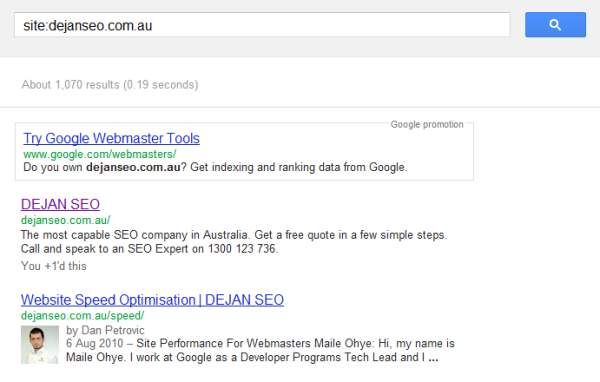 Advanced Search Query Screenshot