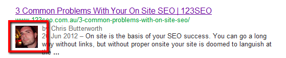 Rich Snippets Authorship